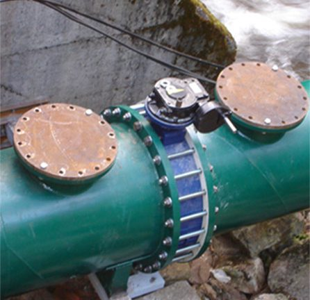 Installation conduite forcée sur barrage hydraulique